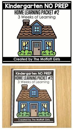 Kindergarten Home Learning NO PREP Packet - Education interests Kindergarten Readiness, Homeschool Kindergarten, Preschool Lessons, Preschool Learning, Homeschool Curriculum, Preschool Activities, Math Worksheets For Kindergarten, Fun Worksheets For Kids, Educational Activities