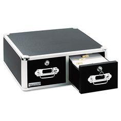 119.99$  Buy here - http://vilpu.justgood.pw/vig/item.php?t=w2ik44u44593 - Vaultz Locking 8 x 5 Two-Drawer Index Card Box, 3000-Card Cap., Blk - IDEVZ01397 119.99$