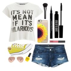 """Kill Em' With SunFlowers 🌻"" by barbiecar ❤ liked on Polyvore featuring Casetify, 3x1, Wildfox, Lord & Berry, NARS Cosmetics, Givenchy, Gucci, Converse, Ray-Ban and Piggy Polish"