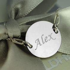 Colier din argint gravat cu nume Paste, Heart Charm, Bracelets, Jewelry, Jewlery, Bijoux, Schmuck, Jewerly, Bracelet