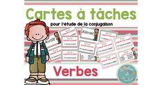 Ensemble de 216 cartes à tâches reliées au thème de la conjugaison des verbes modèles. Ceci peut être utilisé lors de la période des ateliers de français, dans le coin enrichissement, dans les temps libres ou même pour l'étude à la maison. Cet ensemble de 86 pages.pdf contient : 36