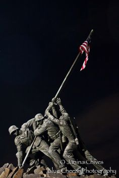 Blue Cheeze Photography: A Day in DC at the Marine Corp Monument #photography #night #DC #Marines #USA #America #capitol