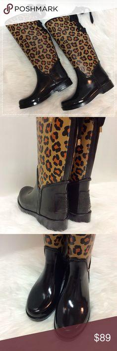 Coach Leopard Print Rain-Boots ⚪️NEW. ⚪️Size 6 Coach Shoes Winter & Rain Boots