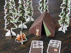 Let's go Camping by Studio On Fire promo. Fun diecuts pop out.