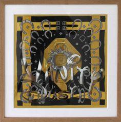 Alice Gallery - Antoine Bouillot - Vanity Dust, 2011 -  Hermes silk scarf, mirror, plexi glass in wood frame, 50x50x5cm