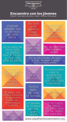 El papa Francisco a los jóvenes de México ! Papa Francisco, Humility, Faith, God, Quotes, Twitter, World, Catechism, Pray