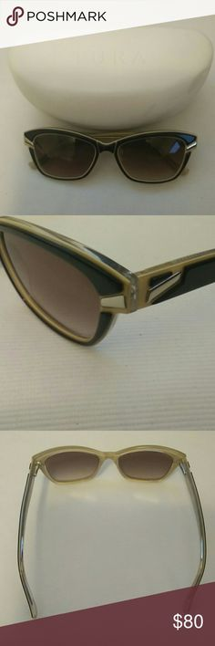 Tura Women's Sunglasses Tura Women's Sunglasses Black,Brown with Gold accents. Includes hard case. New never worn. Tura Accessories Sunglasses
