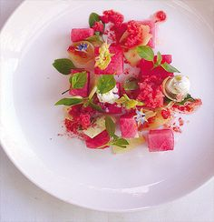 African watermelon salad African Salad, Summer Starter, Fresco, Watermelon Salad, Sweet Wine, South African Recipes, Pickled Onions, Side Salad, Fresh Herbs