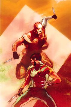 Ultimate Cable vs. Wolverine - Ben Oliver