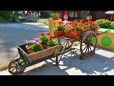 How to make a wooden wheelbarrows - YouTube