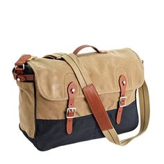 Abingdon messenger bag in two-tone : abingdon | J.Crew