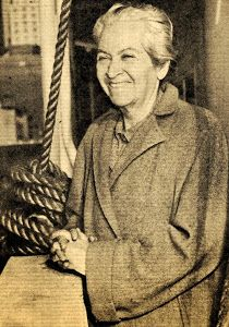 Gabriela Mistral rumbo a Chile.