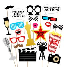 37 Movie Night Awards Printable Photo Props  by PrintablePropShop