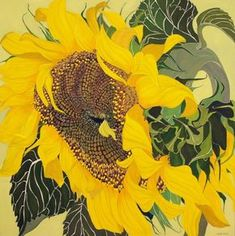 """Sungod - Helen Lucas """"…These aren't just flowers, they are people dancing and singing."""" — Jacques Bellefeuille, Galerie de Bellefeuill… in Sunflower Art, Watercolor Sunflower, Watercolor Paintings, Botanical Art, Botanical Illustration, Sunflowers And Daisies, Plant Art, Canadian Artists, Oil Painting Abstract"""