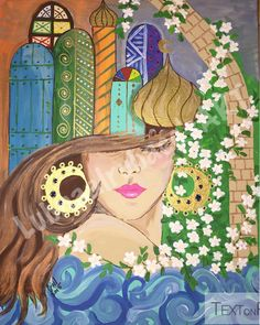 #Acrylic on #canvas شناشيل_بغداديه# iraqi artist