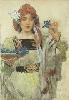 Taussig´s Angelica | Vojtěch Hynais | 1900 | Www.Esbirky.Cz | CC0