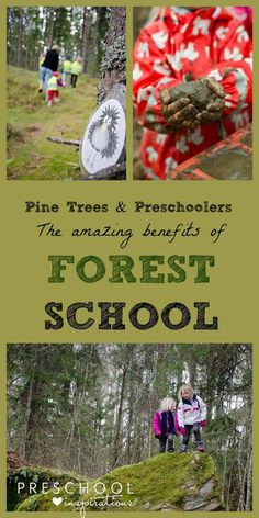 Pine Trees and Preschoolers. The Amazing Benefits of Forest School. The Scandinavian approach to outdoor learning and play is getting popular in the U.S. And with good reason.