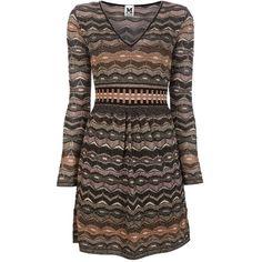 M MISSONI Patterned dress ($735) ❤ liked on Polyvore