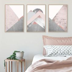 Printable art Downloadable prints Set of 3 Mountains Blush Pink Grey Scandinavian Modern Contemporary Poster Wall decor Triptych Trending THESE ARE INSTANT DOWNLOADS – Your files will be available instantly after purchase. Please note that this is a digital download ONLY, no