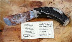 snake river OR blade knife deer antler handle flint knapped custom stone knife knives