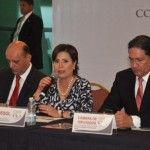 Se reúne Rosario Robles Berlanga con la Comisión Nacional