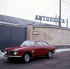 Autodelta: in front of car factory