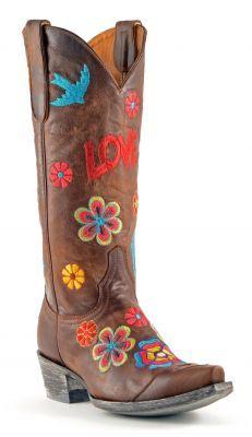 Womens Old Gringo Checruda Boots Brass #L503-4 via @Allens Boots