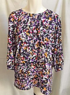 Colorful Tunic 24W 26W Career Wear 3/4 sleeves Never Worn  #NYDJ #Tunic #Casual