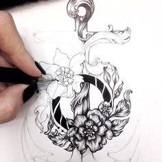 ⚓️ #tattoo #anchor #flowers  #sea #illustration #schedule #Arth #art #baroque  #rococo #wreath #leaves #process #details #tattoos  #tattooed #tatt  #skinart  #design #drawing #detailedtattoo #artist  #guyswithtattoos #girlswithtattoos  #тату #эскиз #цветы #цветочныйЯкорь #якорь #татуировка