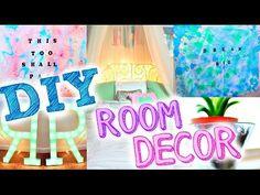 DIY ROOM DECOR | Popular Tumblr Inspired Decor! Easy + Cheap! - YouTube