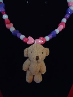 Heart Beaded Necklace for Girls with a Mini by GrannysInspirations, $10.00