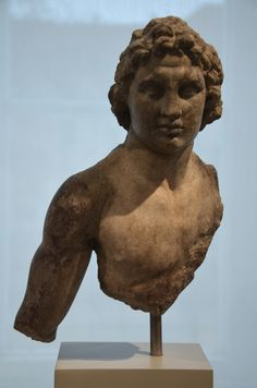 Upper body of a statuette of Alexander the Great, from Priene 200-150 BCE, Altes Museum, Berlin