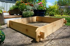 3x3 Cedar Flower Bed Cedar Planter Vegetable by TimberlaneGardens