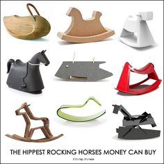 modern designer rocking horses available to purchase - not just concepts