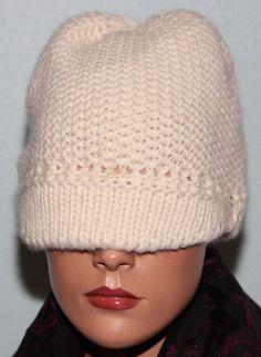 6.92$  Buy now - http://viaxb.justgood.pw/vig/item.php?t=o2jae4f40801 - NWT $48 Bloomingdales Aqua Women's Hat Beanie Visor Handmade Wool Blend Ivory