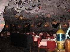 photo st george and the dragon dining room decorated for halloween naples - Halloween Ceiling Decorations