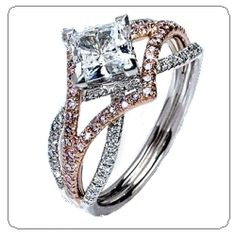 umm, princess cut and set to look like a diamond shape instead of square?! YES PLEASE