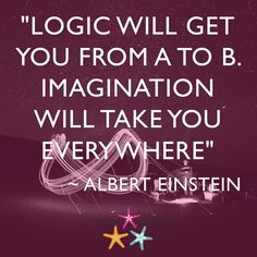 """LOGIC WILL GET YOU FROM A TO B. IMAGINATION WILL TAKE YOU EVERYWHERE"" ALBERT #EINSTEIN #ThrowStarfish #Podcast #Episodes #Quote"