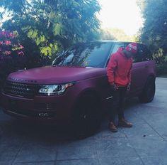 Tyga and his matte Range Rover. Maserati, Bugatti, Lamborghini, Ferrari, Dream Cars, My Dream Car, Range Rovers, Range Rover Sport, Fancy Cars
