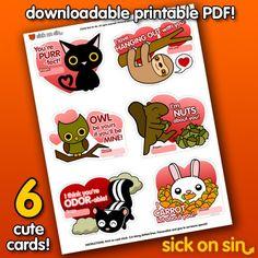 Last Minute Valentine's Day Printables