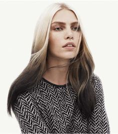 Reverse Ombre Hair Colour Styles