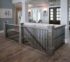 Trendy open basement stairs in kitchen stairways Ideas – Decorating Foyer Open Basement Stairs, Stairs In Kitchen, Basement Steps, Open Stairs, Modern Basement, Basement Stairwell Ideas, Basement Entrance, Basement Plans, Kitchen Floor