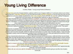 The Young Living difference.