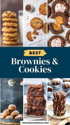 Brownies and Cookies are two dessert recipes that are easy to make at home. These all make great desserts for Christmas, Easter, Thanksgiving, or any holiday that needs a sweet treat. #dessertroundup #brownies #cookierecipes #easydesserts Spring Desserts, Great Desserts, Christmas Desserts, Delicious Cookie Recipes, Brownie Recipes, Sweet Recipes, Quick Cookies, Yummy Cookies, Best Dessert Recipe Ever