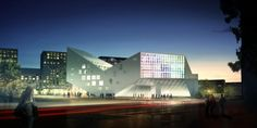 JDS Architects have just shared with us their first French project in the city of Lille. The Euralille Youth Centre is a 6,000 sqm project that includes a