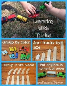 grade movement activity: Learning activities with trains and train tracks Trains Preschool, Transportation Theme Preschool, Preschool Themes, Preschool Learning, Fun Learning, Teaching, Train Activities, Toddler Activities, Learning Activities