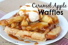 Caramel Apple Waffles on MyRecipeMagic.com (Apple Recipes Breakfast)