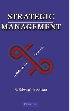 Strategic Management: A Stakeholder Approach by R. Edward... https://www.amazon.com/dp/0521151740/ref=cm_sw_r_pi_dp_QCYxxb5G35YPY