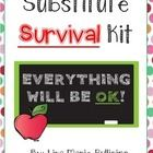 Included in this substitute survival kit are:  2 writing prompts with directions and double sided writing paper 3 center word work activities (shor...