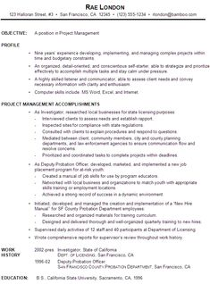 sample functional resume format for a project manager see what works and what doesn